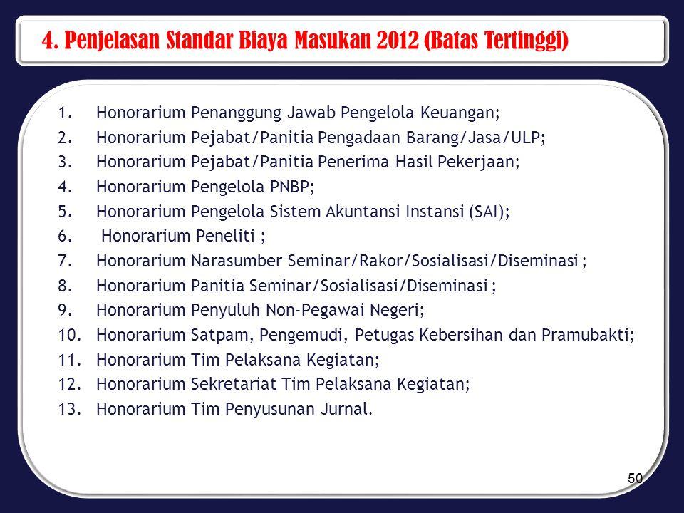 4. Penjelasan Standar Biaya Masukan 2012 (Batas Tertinggi)