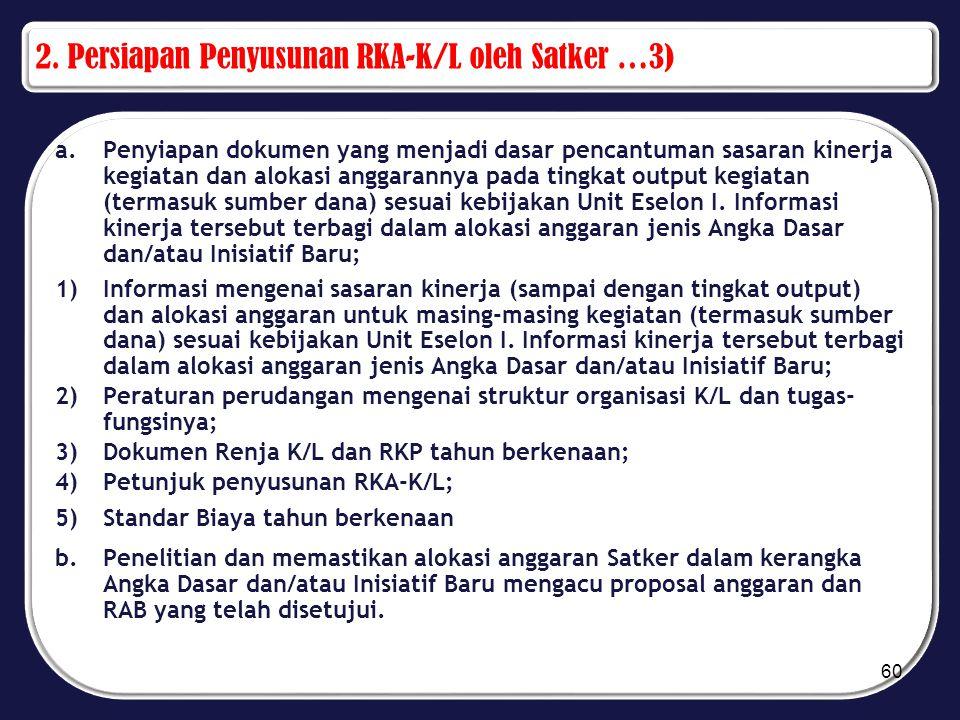 2. Persiapan Penyusunan RKA-K/L oleh Satker …3)