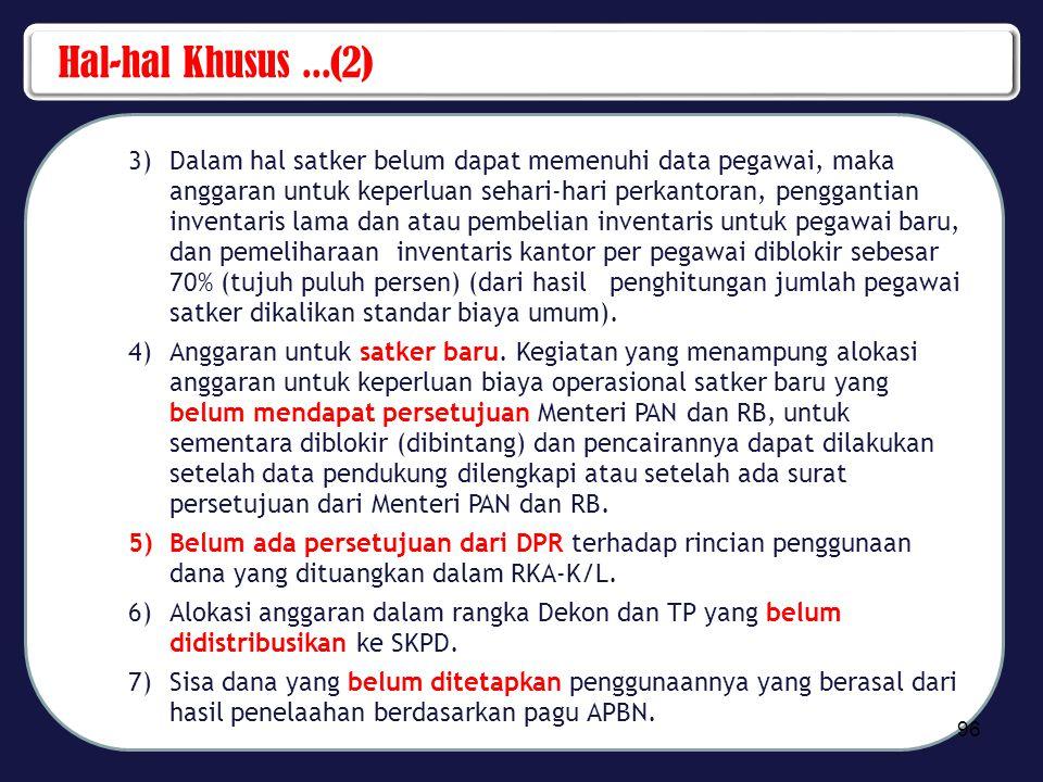 Hal-hal Khusus ...(2)