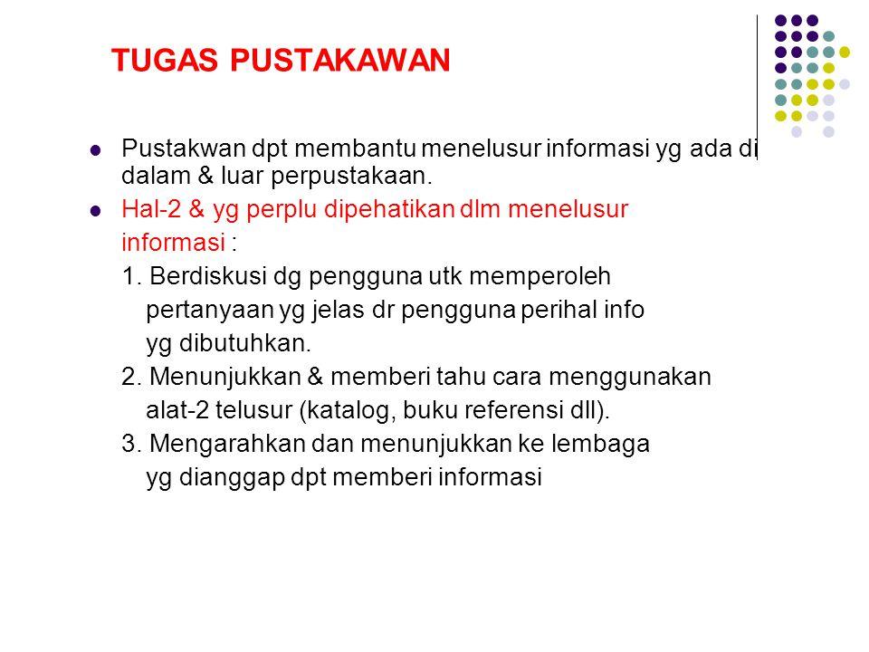 Hal-2 & yg perplu dipehatikan dlm menelusur informasi :