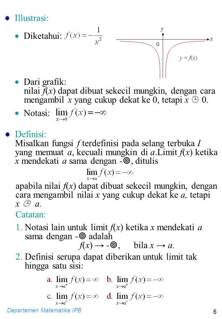 nilai f(x) dapat dibuat sekecil mungkin, dengan cara
