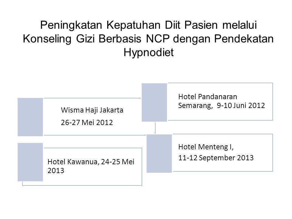Peningkatan Kepatuhan Diit Pasien melalui Konseling Gizi Berbasis NCP dengan Pendekatan Hypnodiet