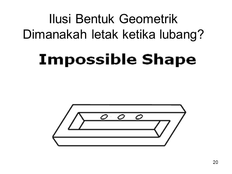 Ilusi Bentuk Geometrik Dimanakah letak ketika lubang