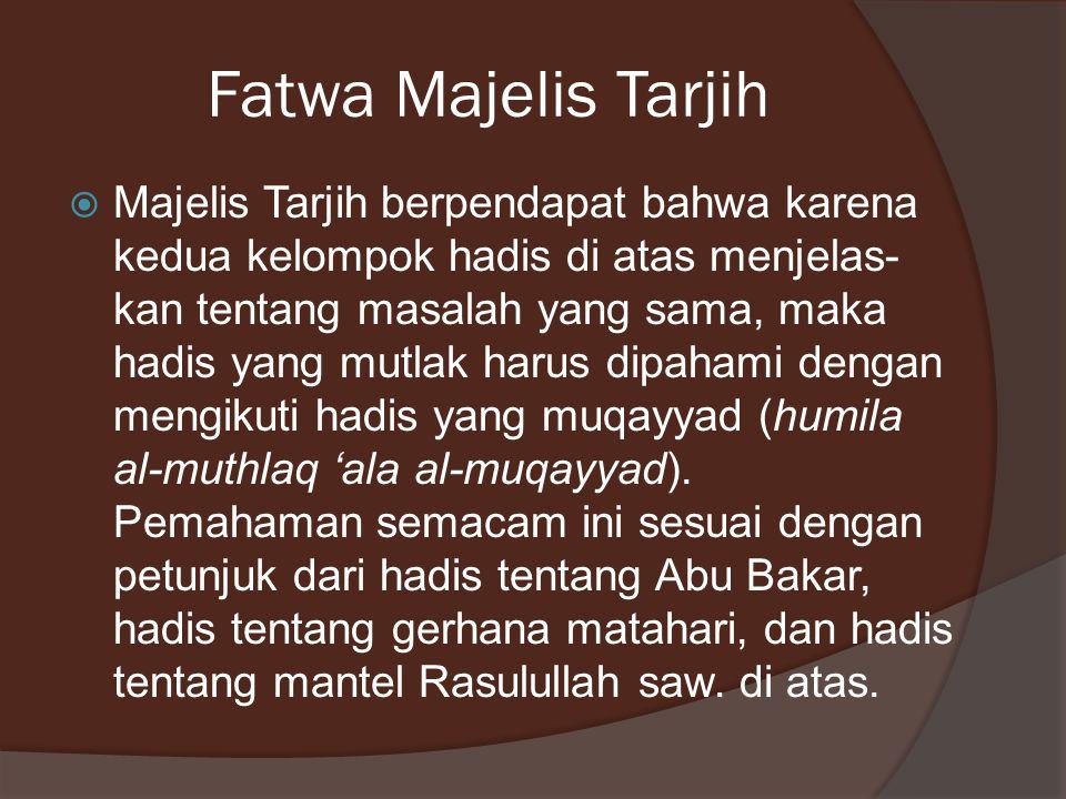 Fatwa Majelis Tarjih