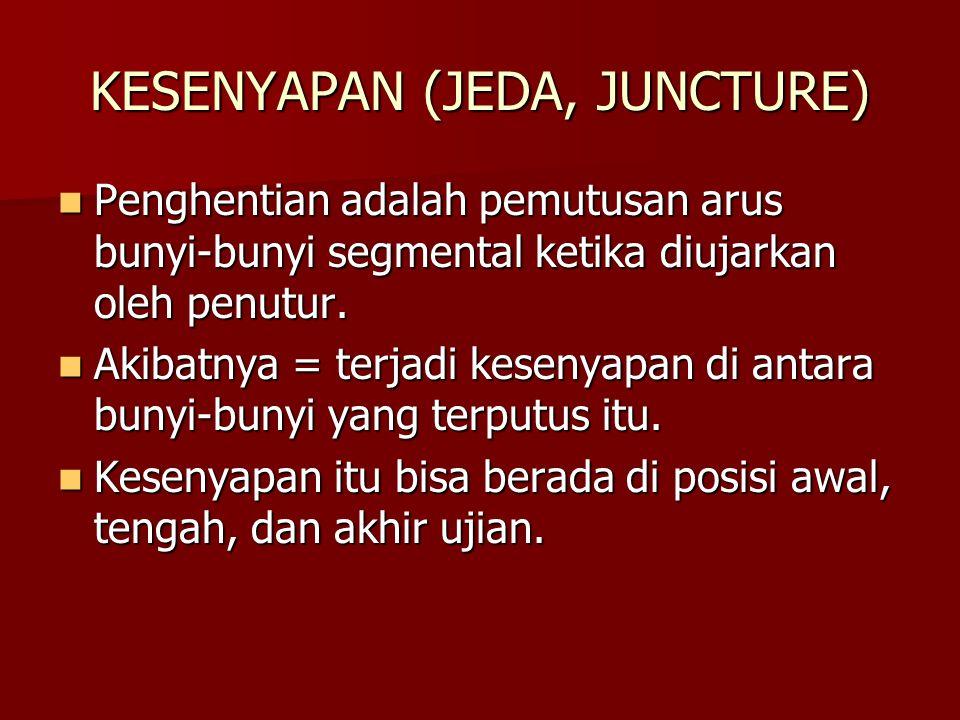 KESENYAPAN (JEDA, JUNCTURE)