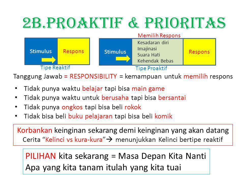 2B.PROAKTIF & prioritas PILIHAN kita sekarang = Masa Depan Kita Nanti