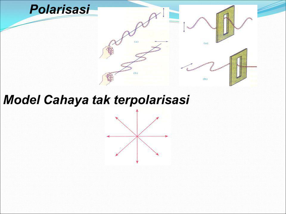 Polarisasi Model Cahaya tak terpolarisasi