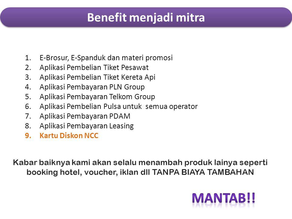 MANTAB!! Benefit menjadi mitra E-Brosur, E-Spanduk dan materi promosi