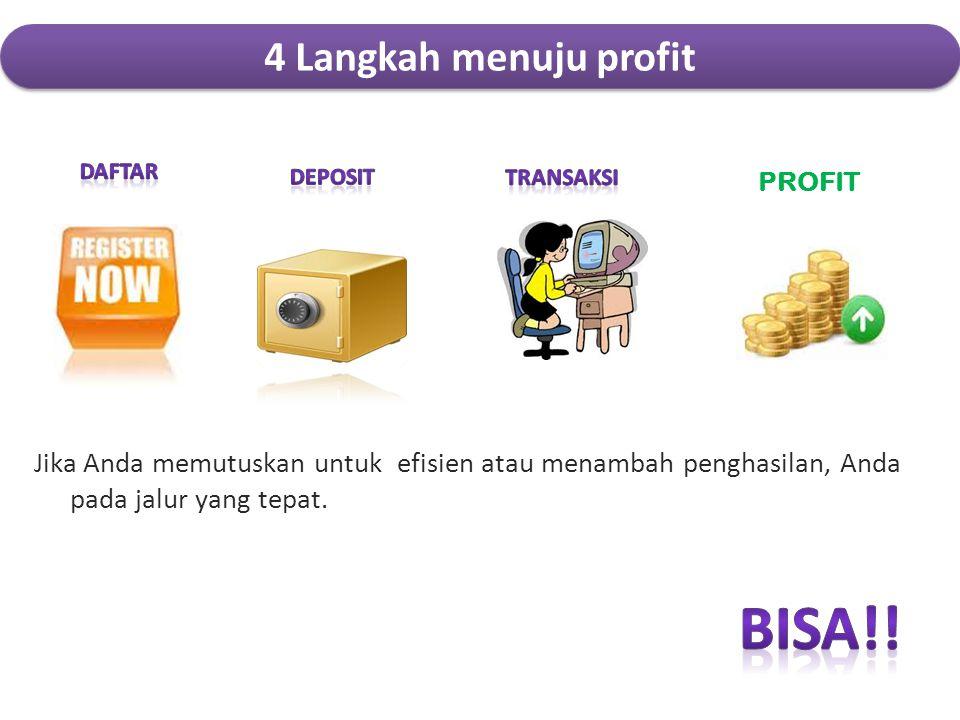 BIsA!! 4 Langkah menuju profit