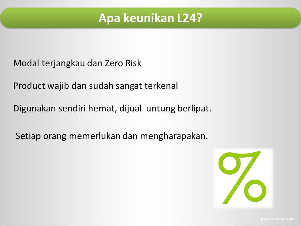 Apa keunikan L24 Modal terjangkau dan Zero Risk