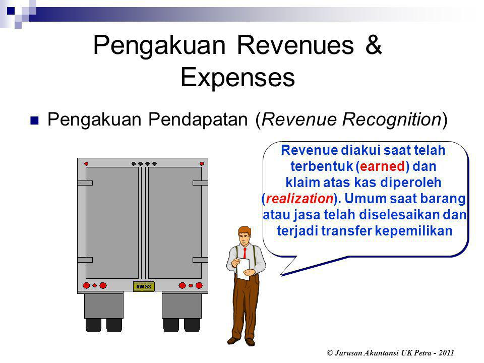 Pengakuan Revenues & Expenses
