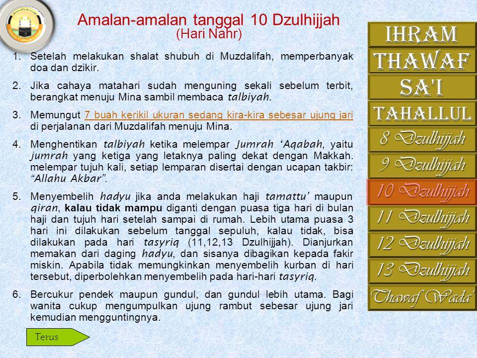 Amalan-amalan tanggal 10 Dzulhijjah (Hari Nahr)