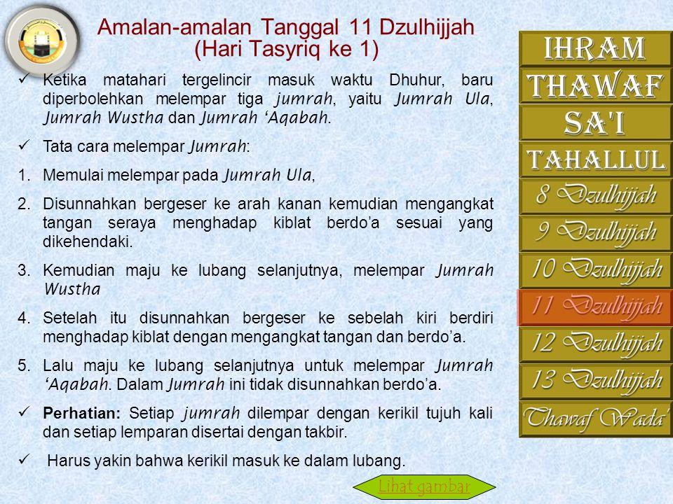 Amalan-amalan Tanggal 11 Dzulhijjah (Hari Tasyriq ke 1)
