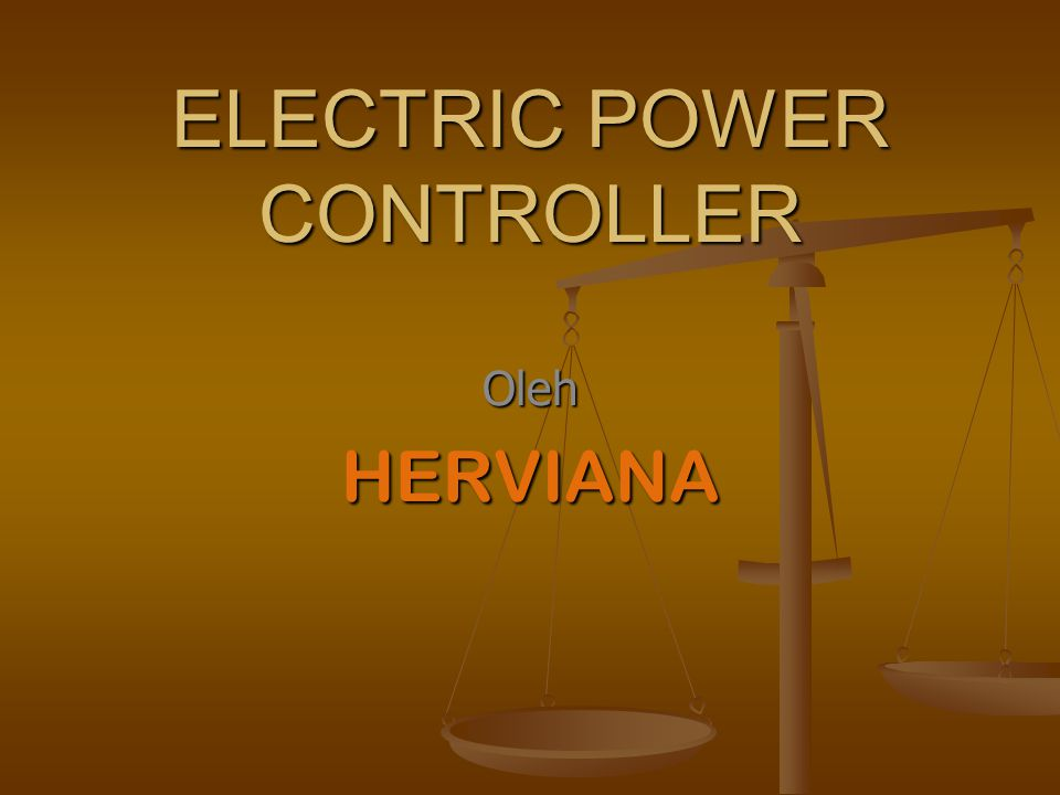 ELECTRIC POWER CONTROLLER
