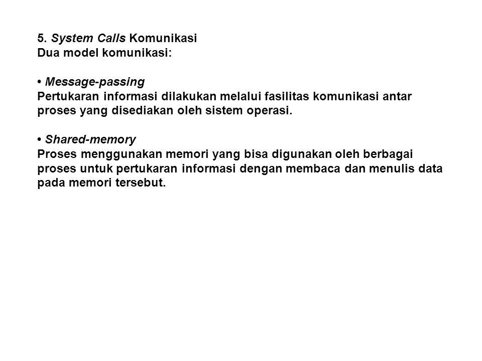5. System Calls Komunikasi