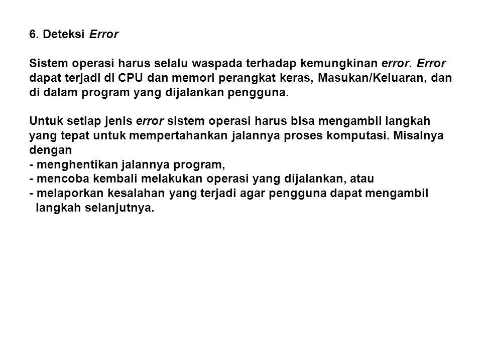6. Deteksi Error
