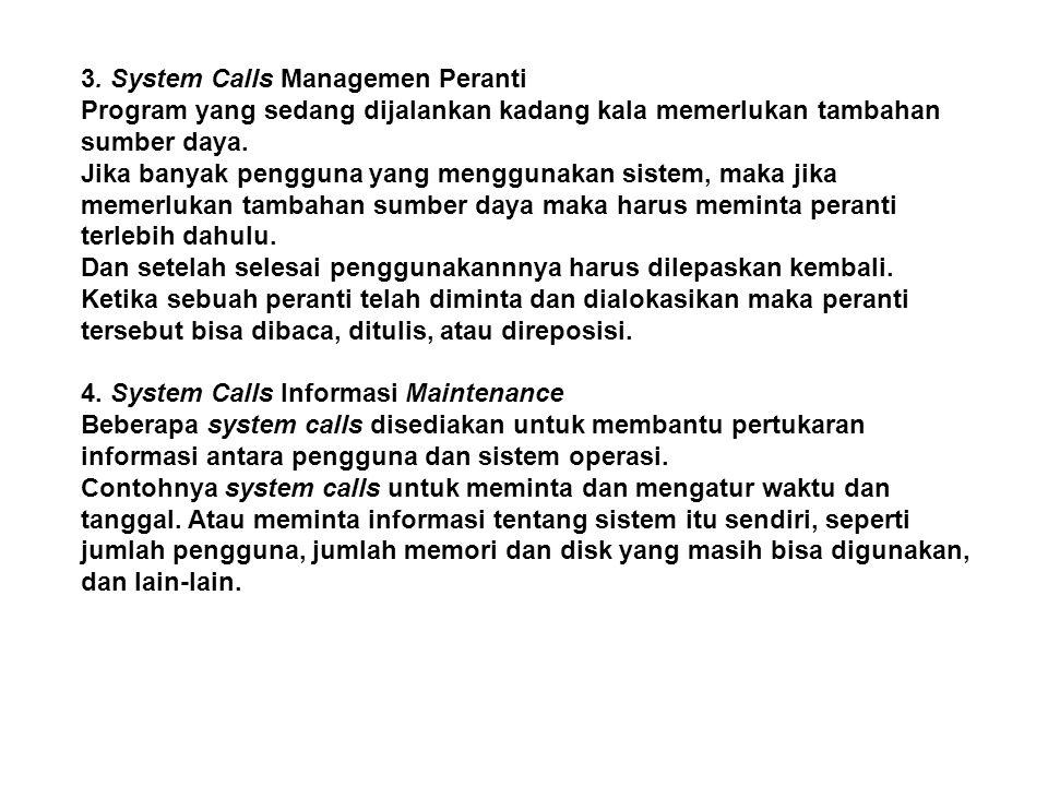 3. System Calls Managemen Peranti