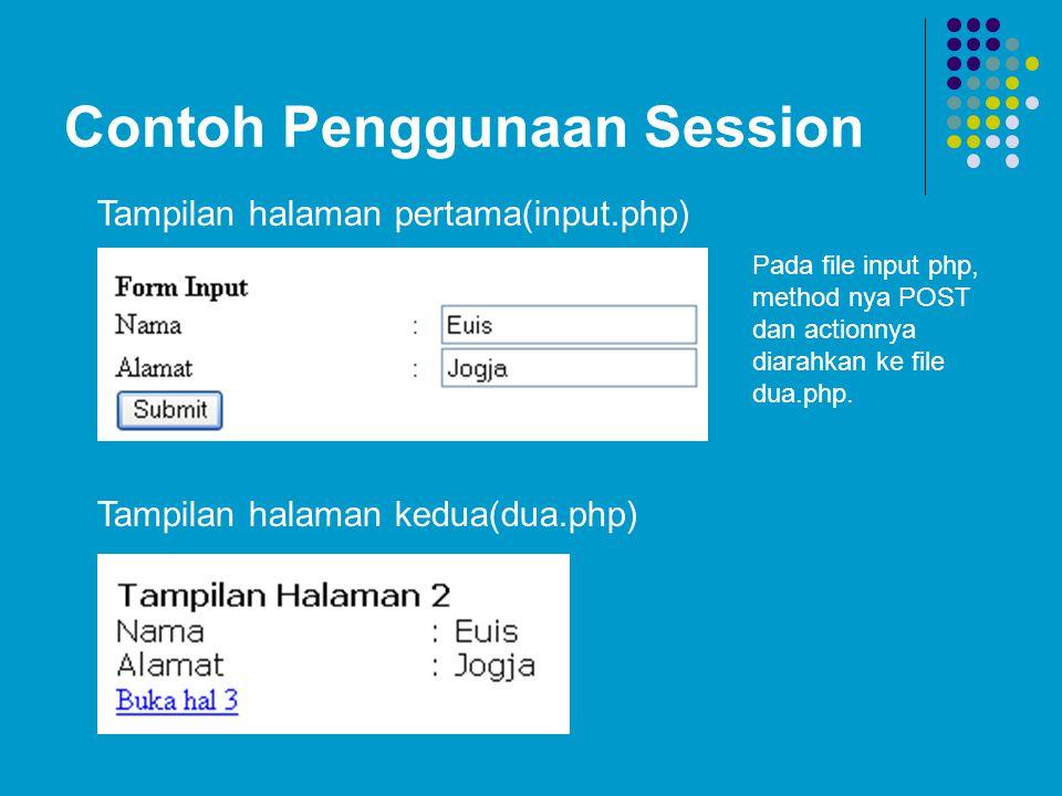 Contoh Penggunaan Session