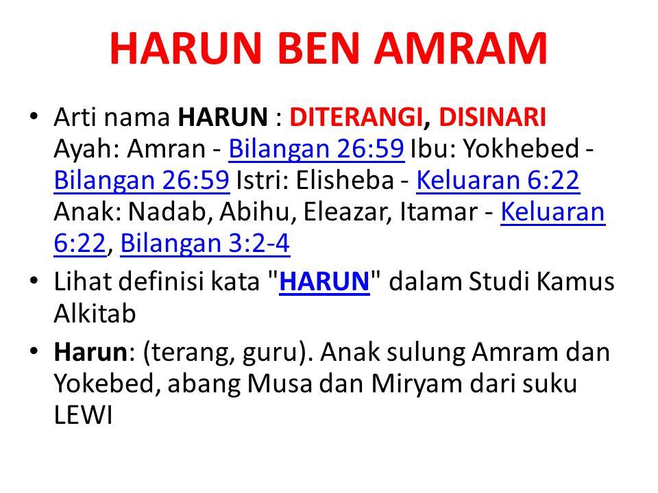 HARUN BEN AMRAM