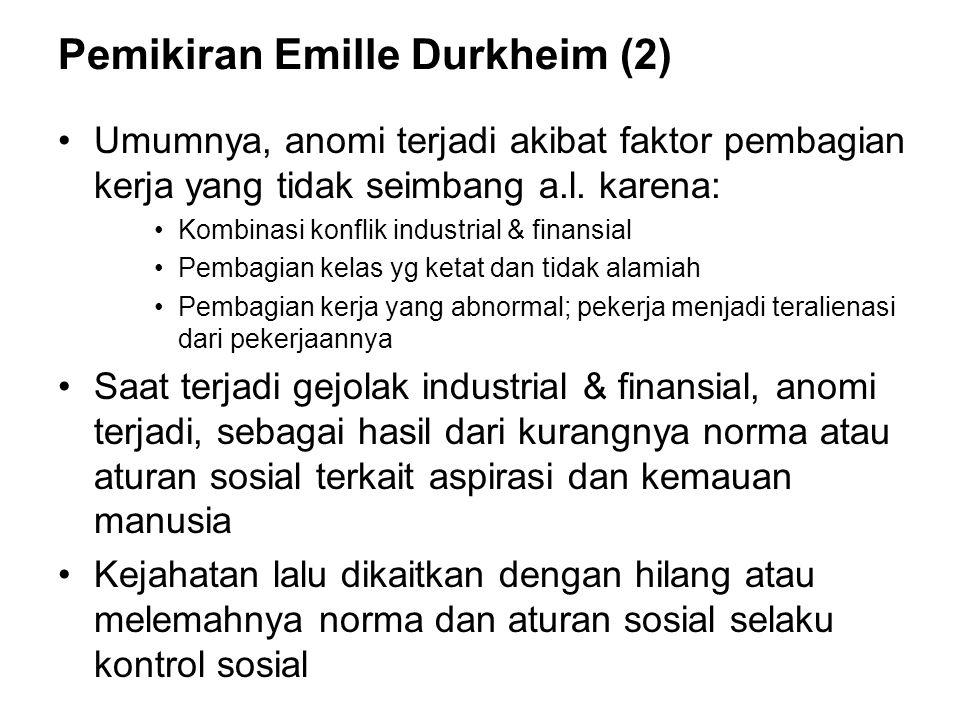 Pemikiran Emille Durkheim (2)