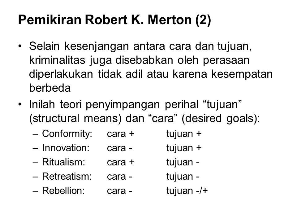 Pemikiran Robert K. Merton (2)