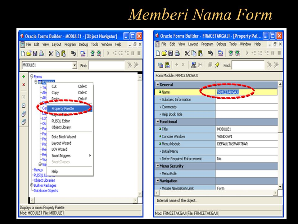 Memberi Nama Form