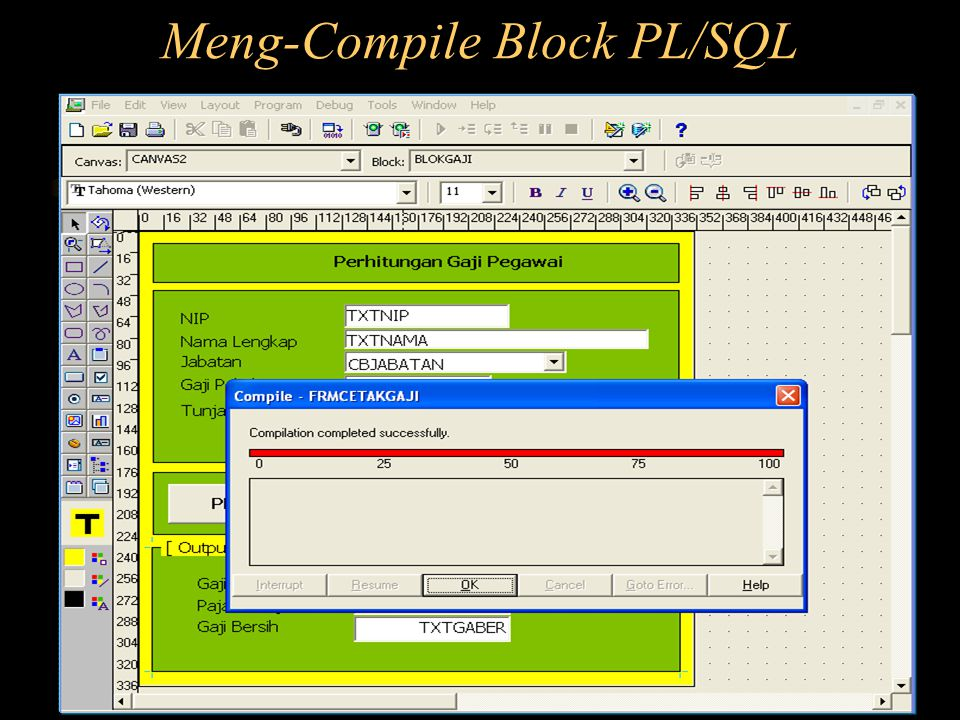 Meng-Compile Block PL/SQL