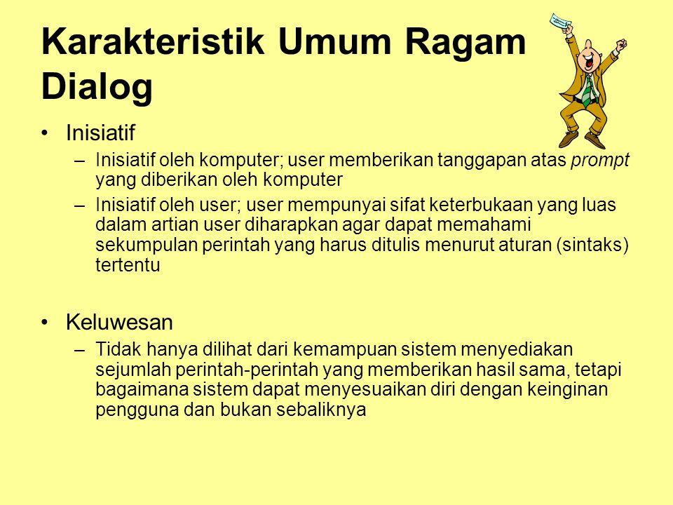 Karakteristik Umum Ragam Dialog