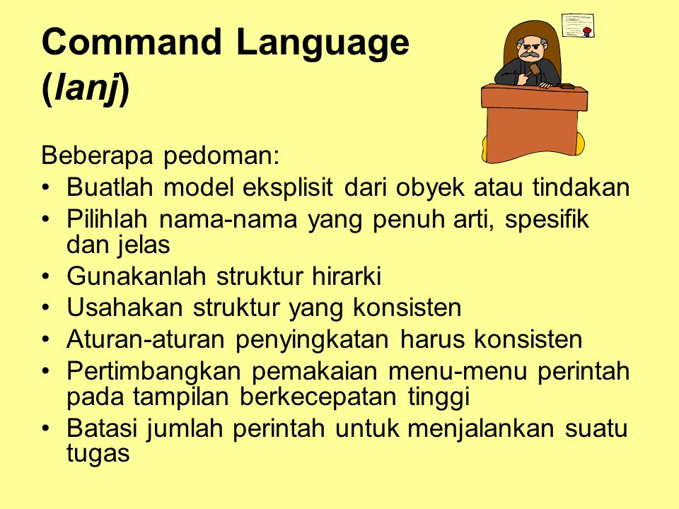 Command Language (lanj)