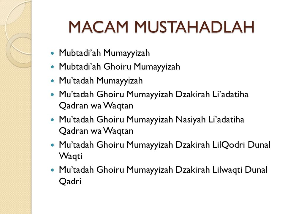MACAM MUSTAHADLAH Mubtadi'ah Mumayyizah Mubtadi'ah Ghoiru Mumayyizah