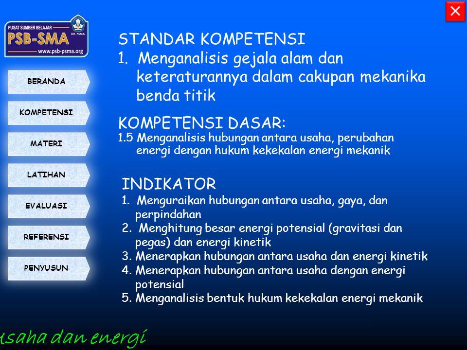 Usaha dan energi STANDAR KOMPETENSI