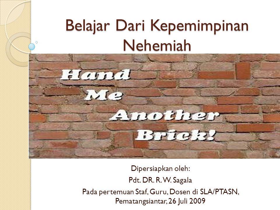 Belajar Dari Kepemimpinan Nehemiah