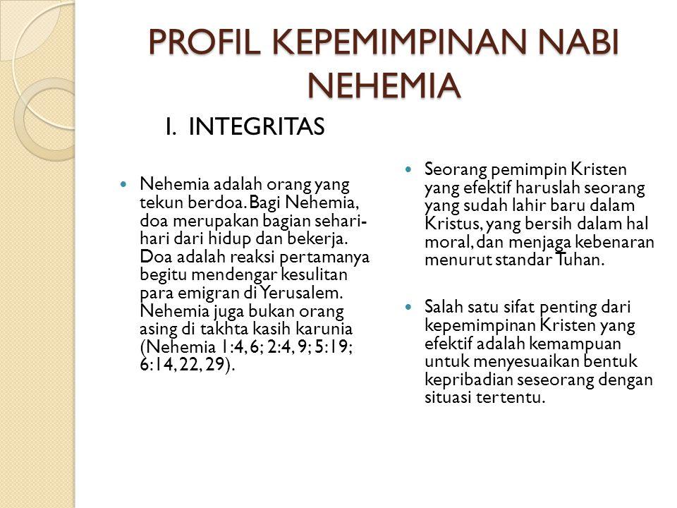 PROFIL KEPEMIMPINAN NABI NEHEMIA