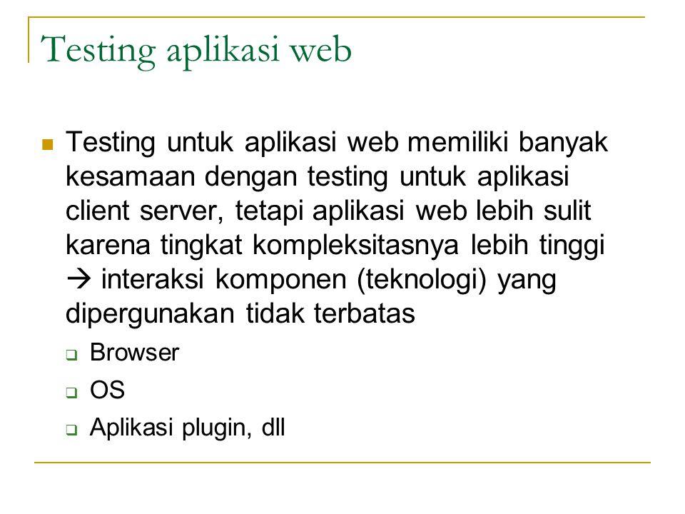 Testing aplikasi web
