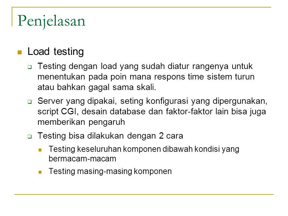 Penjelasan Load testing