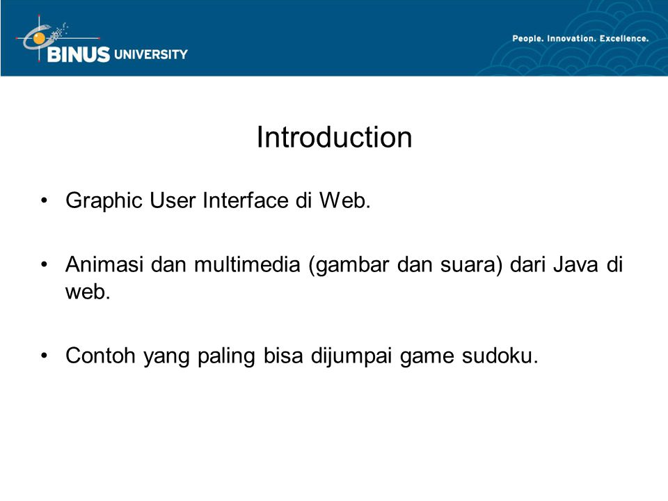 Introduction Graphic User Interface di Web.