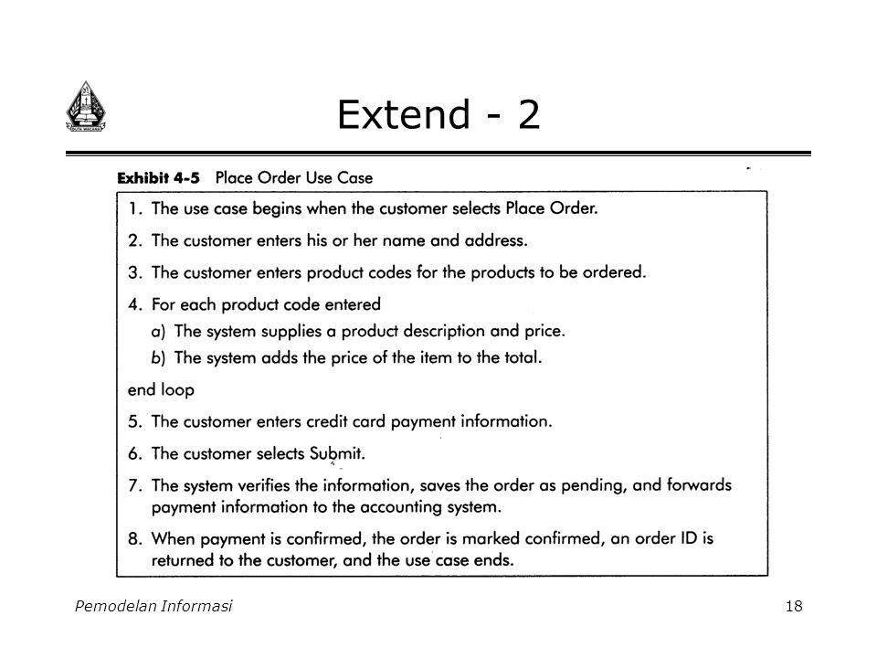 Extend - 2 Pemodelan Informasi