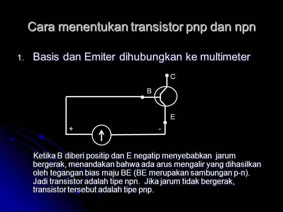 Cara menentukan transistor pnp dan npn