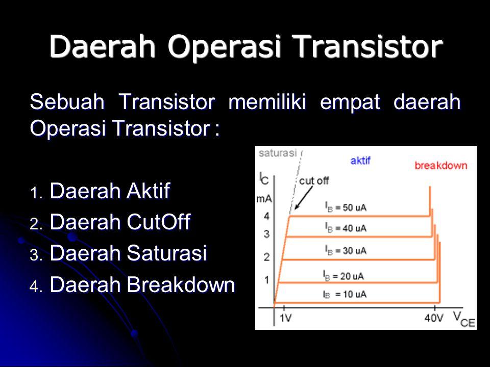 Daerah Operasi Transistor