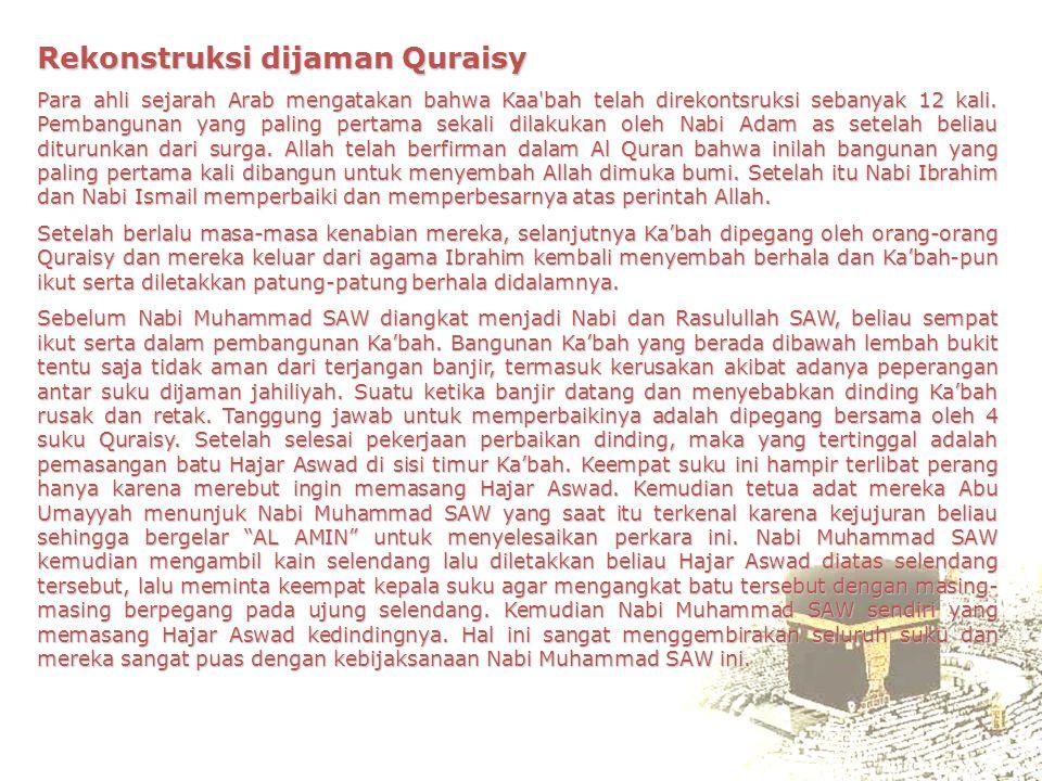 Rekonstruksi dijaman Quraisy