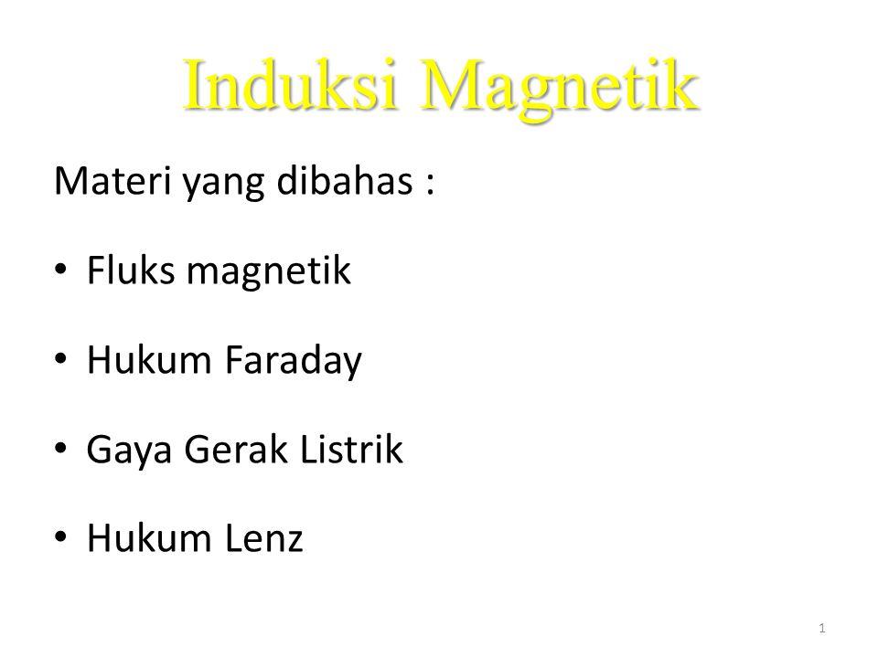 Induksi Magnetik Materi yang dibahas : Fluks magnetik Hukum Faraday