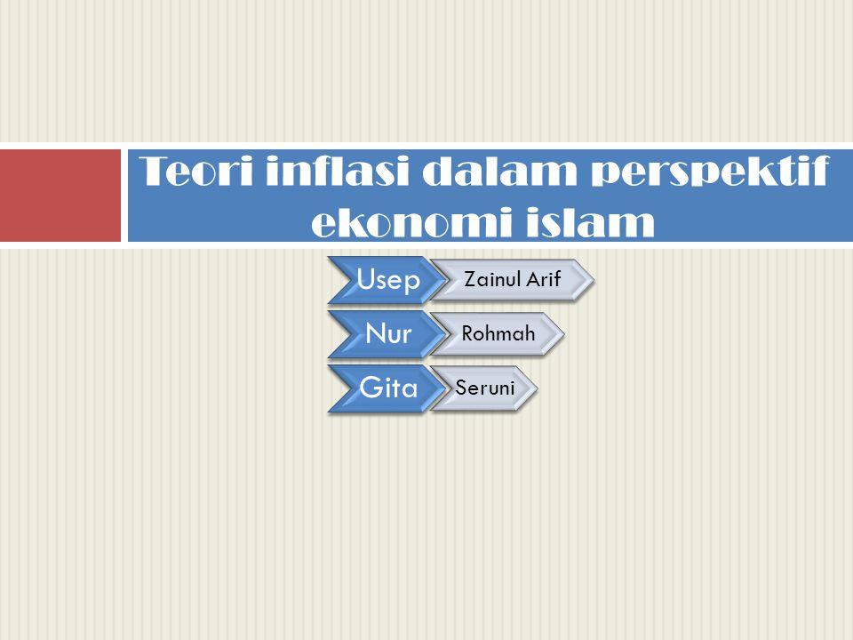 Teori inflasi dalam perspektif ekonomi islam