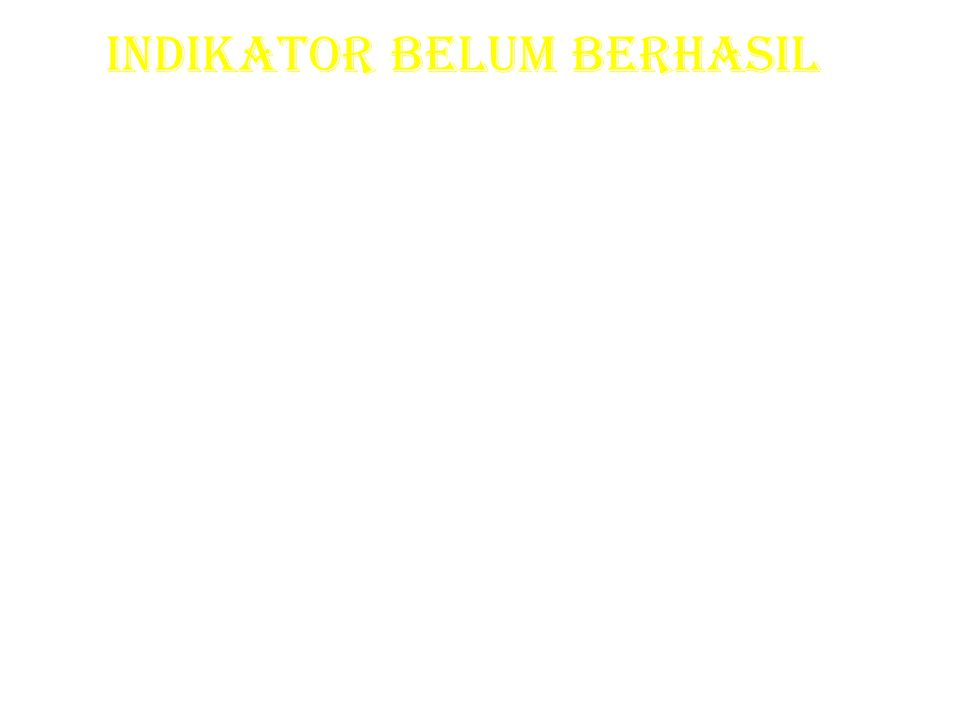 INDIKATOR BELUM BERHASIL