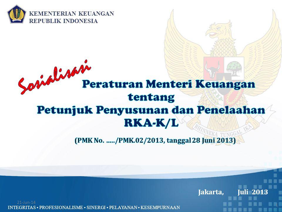 (PMK No. …../PMK.02/2013, tanggal 28 Juni 2013)