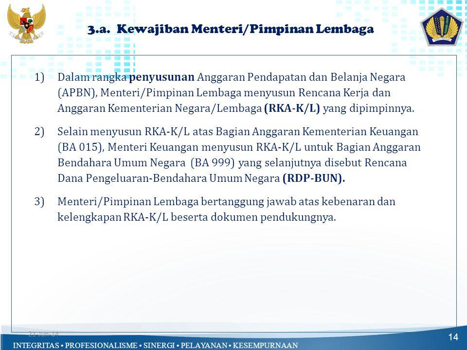 3.a. Kewajiban Menteri/Pimpinan Lembaga