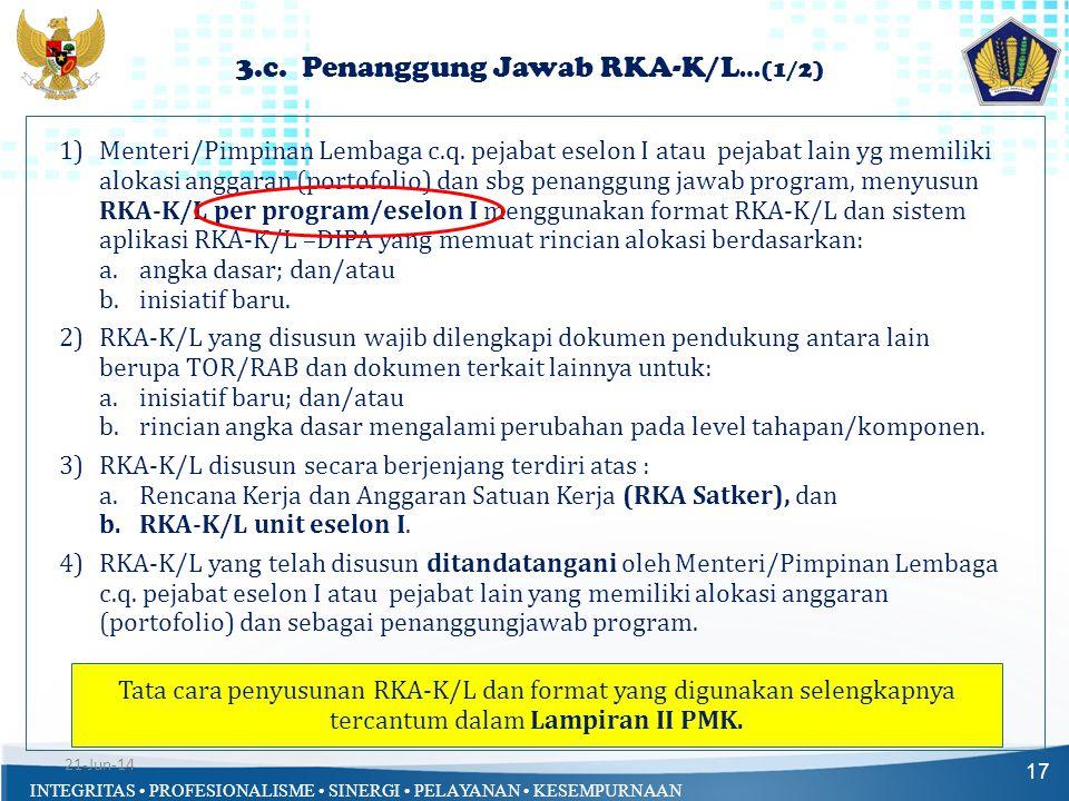3.c. Penanggung Jawab RKA-K/L…(1/2)