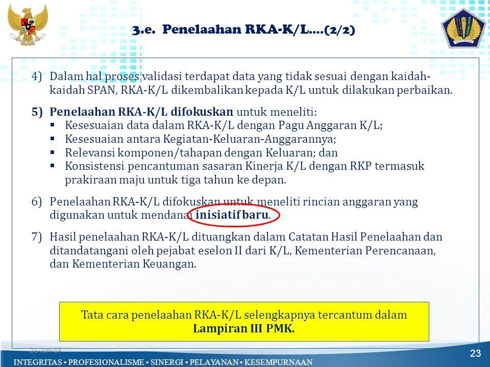 3.e. Penelaahan RKA-K/L….(2/2)
