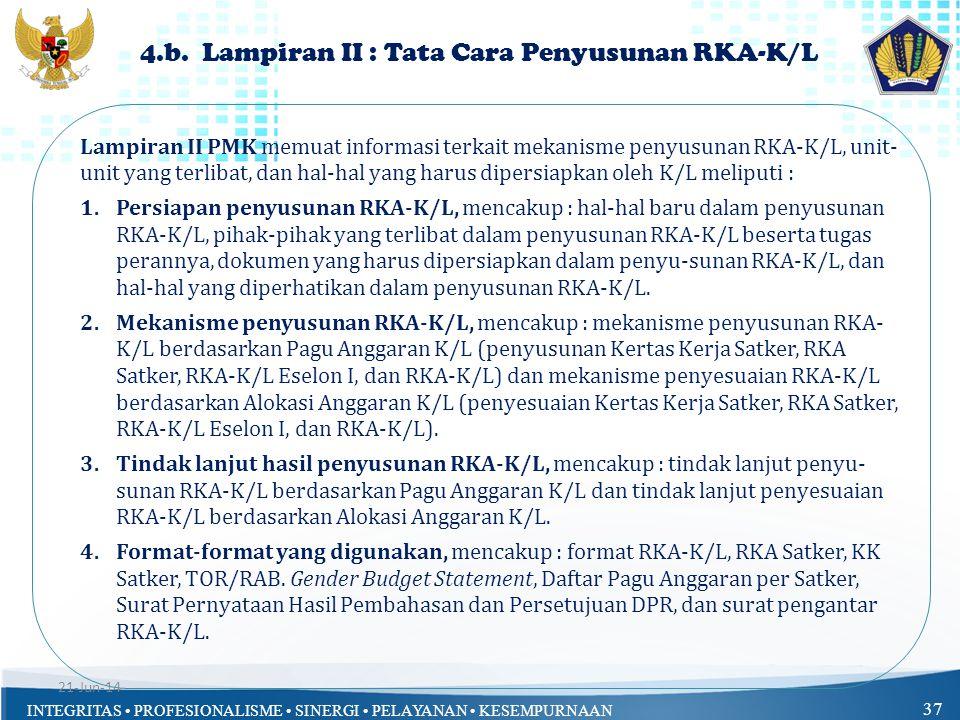 4.b. Lampiran II : Tata Cara Penyusunan RKA-K/L