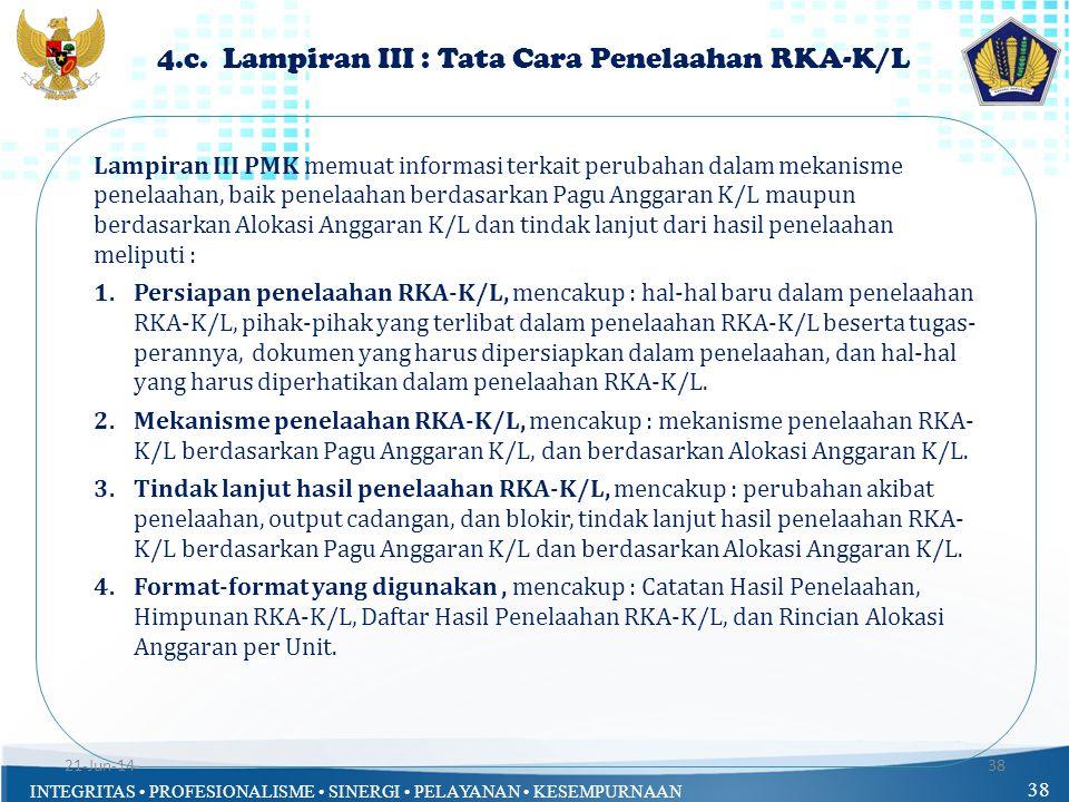 4.c. Lampiran III : Tata Cara Penelaahan RKA-K/L