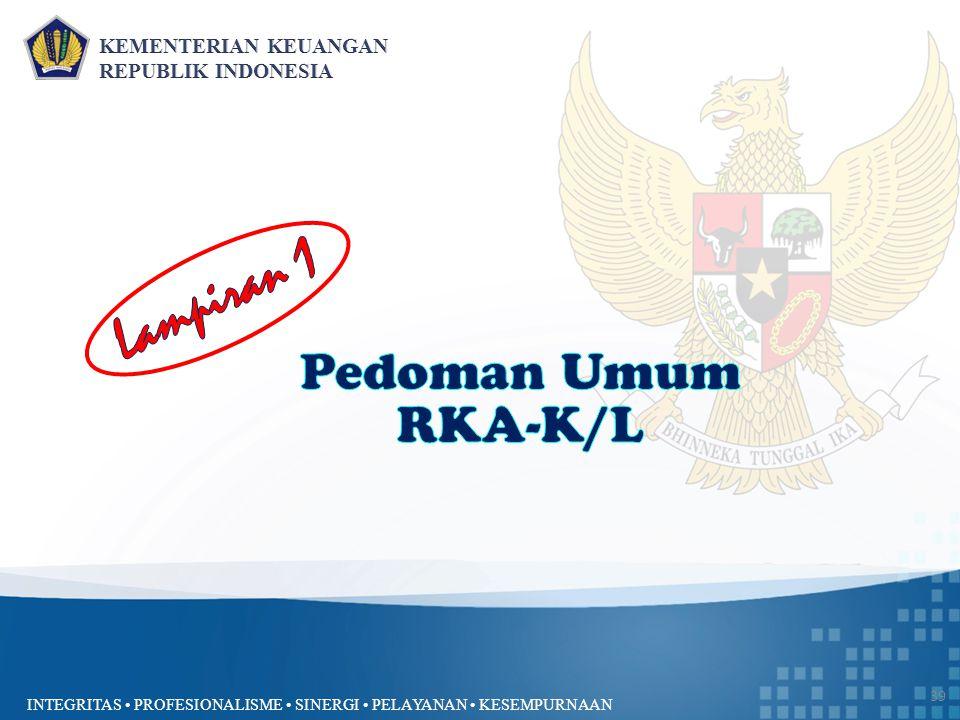 Lampiran 1 Pedoman Umum RKA-K/L